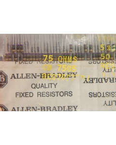 ALLEN BRADLEY - AB - RC07GF750J - Resistor, CC. 75 Ohm. Package of 100.