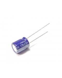 NICHICON - UVX1U221MPA - Electrolytic. 220uF 35V. Package of 10.