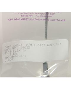 QMI/TENSOLITE - 1-3437-601-1007 - RF CABLE ASSEMBLY