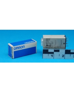 OMRON - H3Y-2 - 100- Miniature Time Delay Relay, DPDT 5Amp 100VAC 0-5 Seconds.