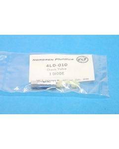 NORGREN - 4LD-010-D00+ - Check valve, miniature.