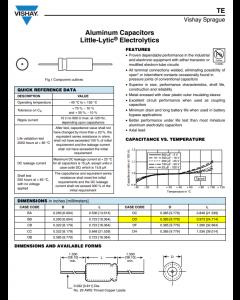 Vishay/Sprague - TE1105 - 30D257G006DD2 - Capacitor, Electrolytic. 250uF 6VDC.