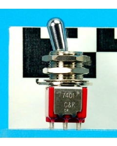 C & K Components - 7401T1ZQE - Switch, toggle. Contacts: 4PDT.