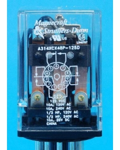 MAGNECRAFT/S&D - A314XCX48P-125VDC - Relay, power. Input: DC. 3PDT 10A 125VDC.