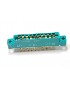 CINCH CONNECTIVITY - 50-20A-30 - Connector, PCB Edge. 10 Position.