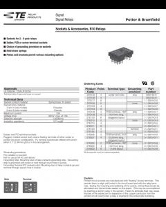 Potter & Brumfield - 27E317 - 10-PIN RELAY SOCKET