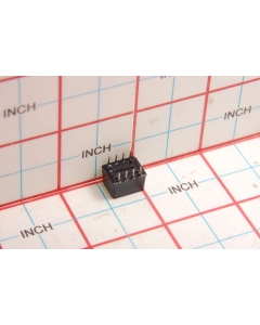 AMP INC - 435802-3 - Switch, dip. Contacts: SPST 4P.