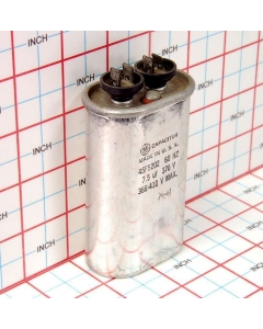General Electric - 45F5202 - Capacitor, oil-filled. 7.5uF 370VAC 60Hz.