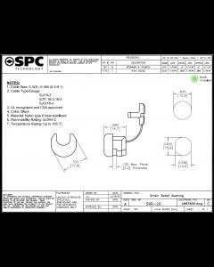 SPC TECHNOLOGY - SRR-20 - Cord Strain Relief Bushing Blk Nylon,  Lot of 5