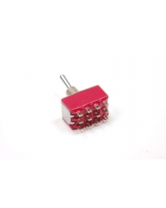 C & K Components - 7411SHZBE - Switch, toggle. 4P On-On-On.