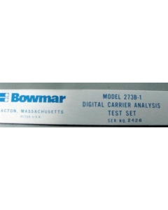 BOWMAR-HAROWE - 273B-1 - Digital Carrier Analysis Test Set