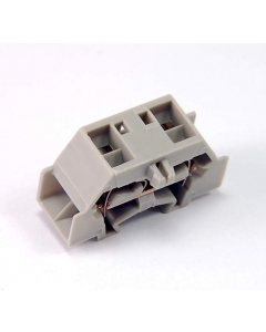 WAGO - 261-331 - Connector, DIN-rail Terminal Block CAGE CLAMP 4-conductor,  2. 5mm2 24A 1P Flange Grey