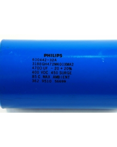 Philips - 3188GH472M400XMA2 - Capacitor, electrolytic. 4700uF 400V.