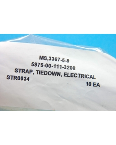 """Unidentified MFG - MS3367-5-9 - Hardware, cable ties. 5"""" straps. Package of 20."""