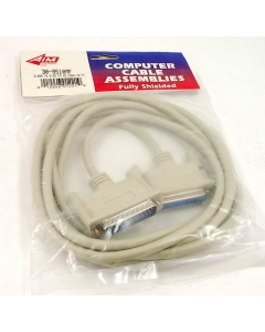 Aim Electronics - 30-9510MF - Computer cable. DB25 M to DB25 F, shielded. 10 Ft.