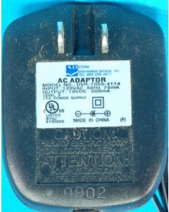 AD COM - DVR-1050-4114 - AC adapter. 10VDC 500mA out.