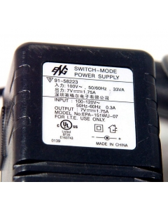 Eng Electric Inc - EPA-151WU-07 - AC Adapter. Out: 7VDC 1.75Amp.