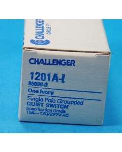 CHALLENGER - 1201A-I - Switch, toggle. Contacts: SP.