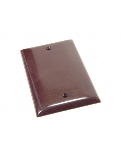 Challenger - 2830 - Cover plates. Blank, brown. Package of 3.