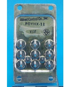ALLIED CONTROLS - POYHX-11 - 3PDT 24VDC Hermetically sealed relays