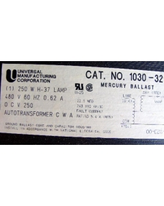 Triad/Magnetek - 1030-32-500K - Mercury Ballast Kit - for 250W H37 480V lamp