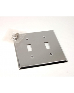 CHALLENGER - 3802 - 2-Gang switch wall plate SS