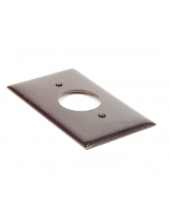 "Challenger - 2810-M - Hardware, cover plate. For one round receptacle, 1.393"" D. Brown. New."