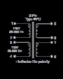 SIGNAL TRANSFORMER INC - DPC120-200 BOARD - Dual 60V 0.4A Sec - Isolation Xfmr On a PC board