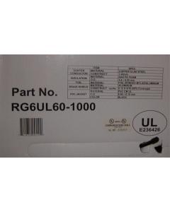 Unidentified MFG - RG6UL60-1000' - Cable, coax, RG6/U 75 Ohm. 18-1C. Sold 1K'/Roll.