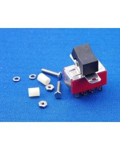 C & K Components - 7401J1ZG12 - Switch, rocker. 4PDT 5Amp 120VAC.