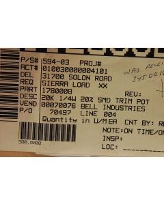 BOURNS - 3314G1-203E - Resistor, trimming. 20K Ohm.