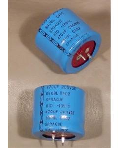 Sprague - 81D471M200MB5 - Capacitor, electrolytic. 470uF 200V.