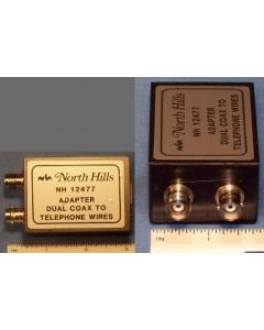 NORTH HILLS - NH 12477 - Connector, coax. Wang to dual coax.