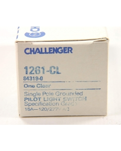 CHALLENGER - 1261-CL - Switch, toggle. Illum SP. 15A 120/277VAC.