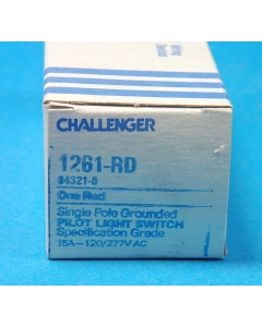 CHALLENGER - 1261-RD - Switch, toggle. Contacts: SP. Illuminated.