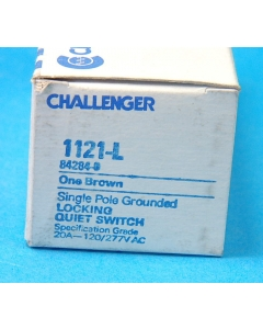 Challenger - 1121-L - Switch, key. Key operated locking switch, SP 120/277VAC 20Amp.