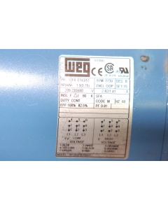 WEG / MaxiRex - 001180P3EN143T - Motors, AC. Supply: 208-230/460VAC 3Ph 1HP.