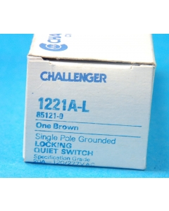 CHALLENGER - 1221A-L - Switch, key. Contacts: SP Grounded.