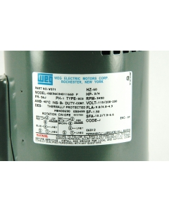 WEG / MaxiRex - 56C34D1166 - Motor, AC. 1P 115-208-230VAC 3/4HP 3450RPM.