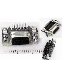 AMP INC - 745781-6 - CONN D-SUB RECPT R/A 9POS PCB AU