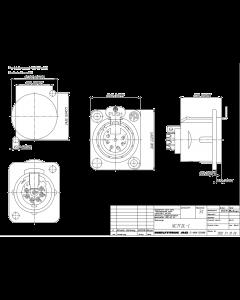NEUTRIK USA INC - NC7FD-L-B-1 - Connector, XLR. 7 Pos female, panel.