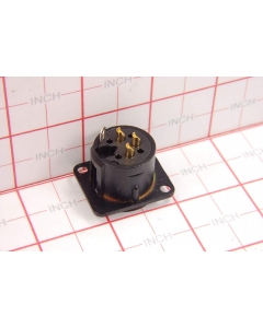 NEUTRIK USA INC - NC3MD-L-B-1 - Connector, XLR. 3 Pin male, panel.