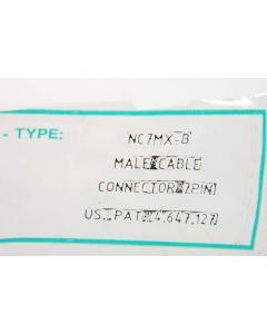 NEUTRIK USA INC - NC7MX-B - Connector, XLR. 7 Pin male, cable.