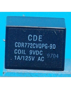 CDE - CDR772CVQPG-9D - Relay, control. Input: DC. Contacts: DPDT.