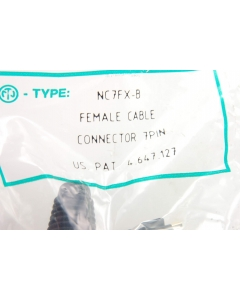 NEUTRIK USA INC - NC7FX-B - 7-pin female cable connector.