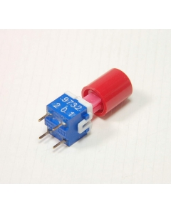 C&K ITT Cannon - 603812 - Switch, Pushbutton. DPST Latching, PCB Control Panel Tactile Key Switch. Package of 4