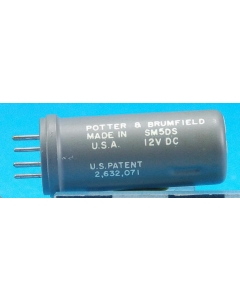 Potter & Brumfield - SM5DS - Relay, DC. Coil: 12VDC.