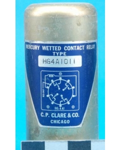 C.P. Clare&Co - HG4A1011 - 24VDC 4PDT Mercury Wetted Relay 4PDT
