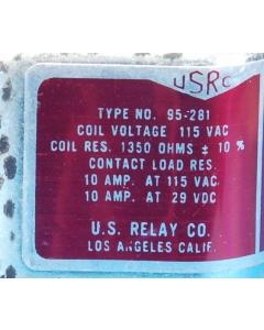 U.S.R.C. - 95-281 - 115VAC DPDT-10A Herm-sealed Relay