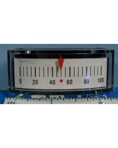 General Electric - 50-185112CYCY2AAP - Edgewise meter. 50-0-50uA DC.